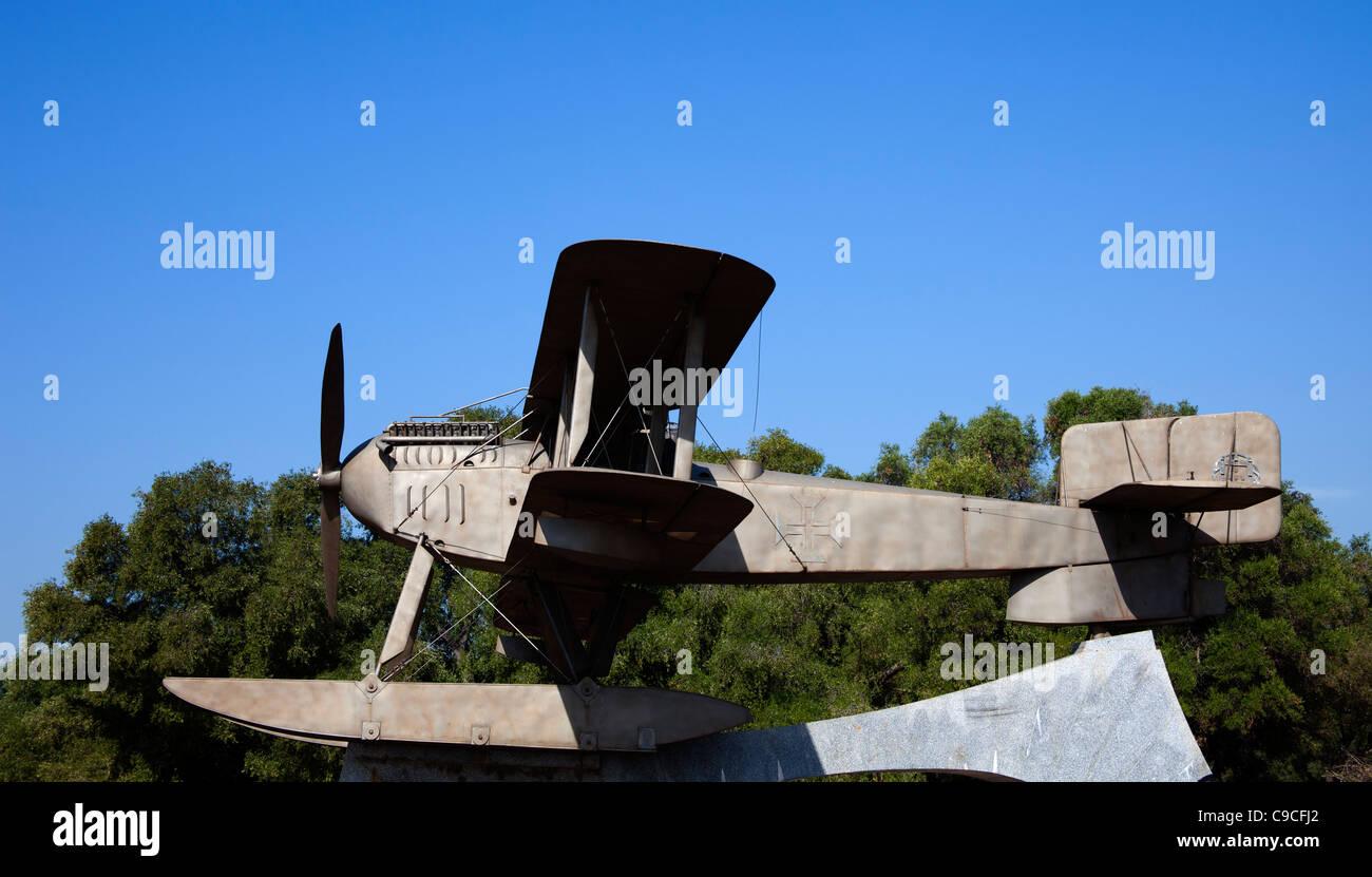Replica of Fairey 111-B bi-plane Santa Cruz, Belem, Portugal, Europe - Stock Image