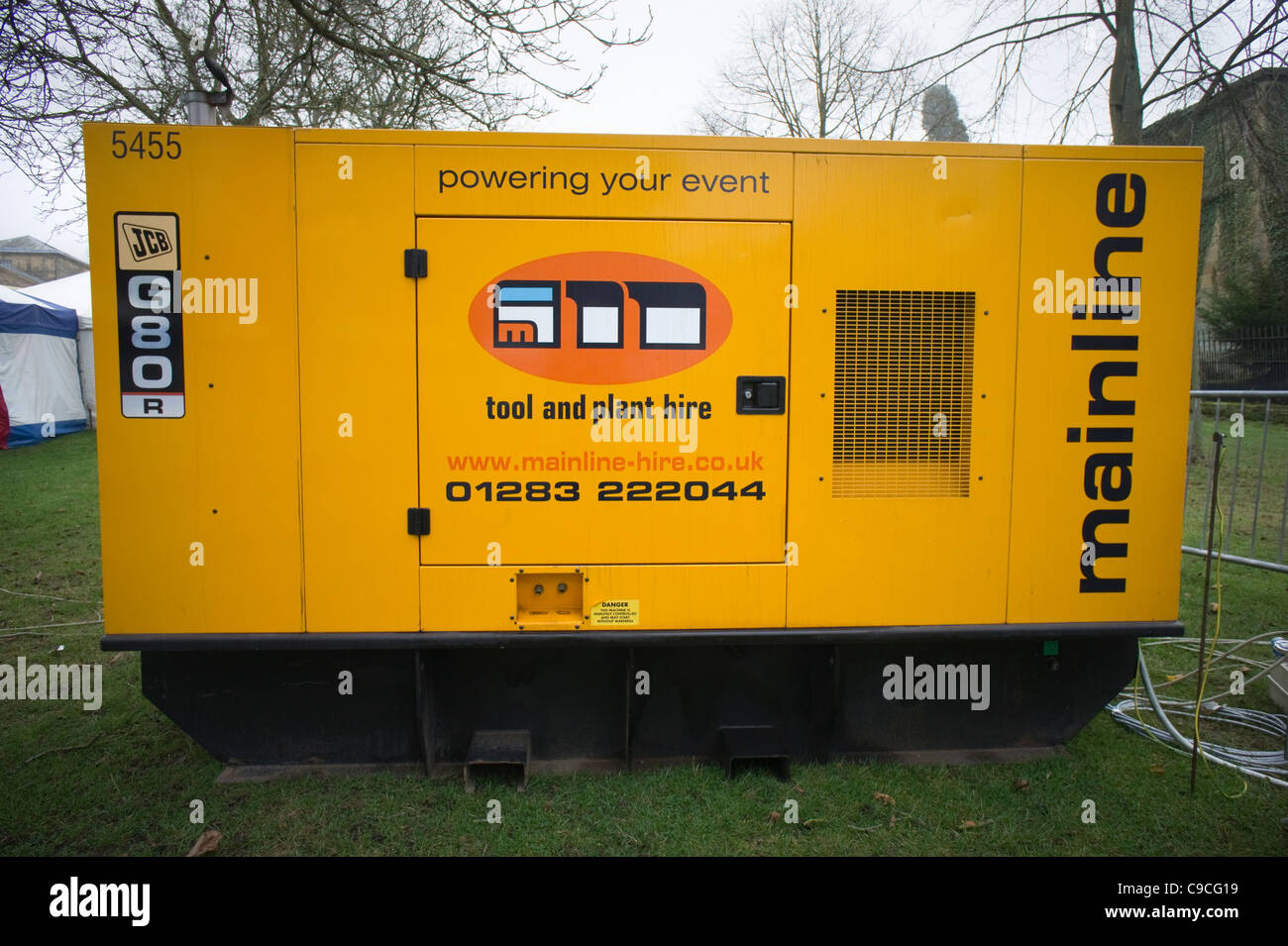 Mainline tool and power hire generator - Stock Image