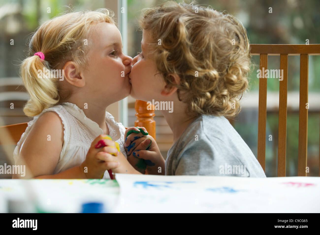 Young Boy Kissing Girls Hand Stock Photos Young Boy Kissing Girls
