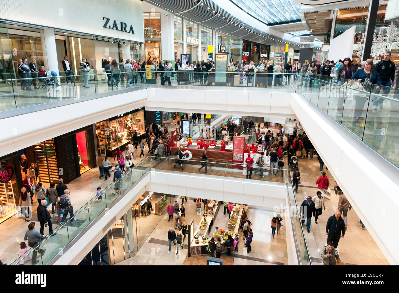 Westfield Stratford City shopping mall, London, England, UK - Stock Image