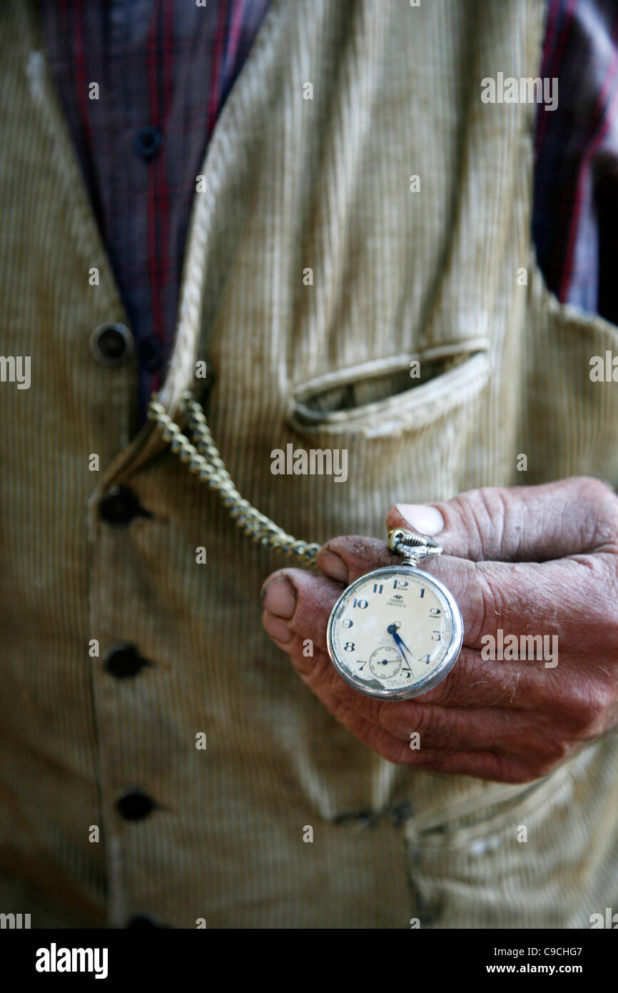 detail picture of a Farmer's watch near Seneghe located by the Monti Ferru, Sardinia, Italy. - Stock Image