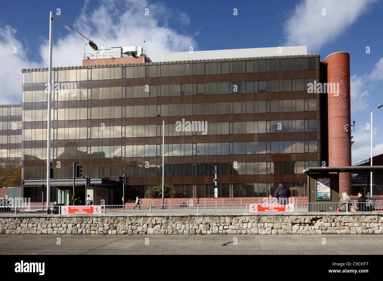 Saga building Folkestone Kent - Stock Image