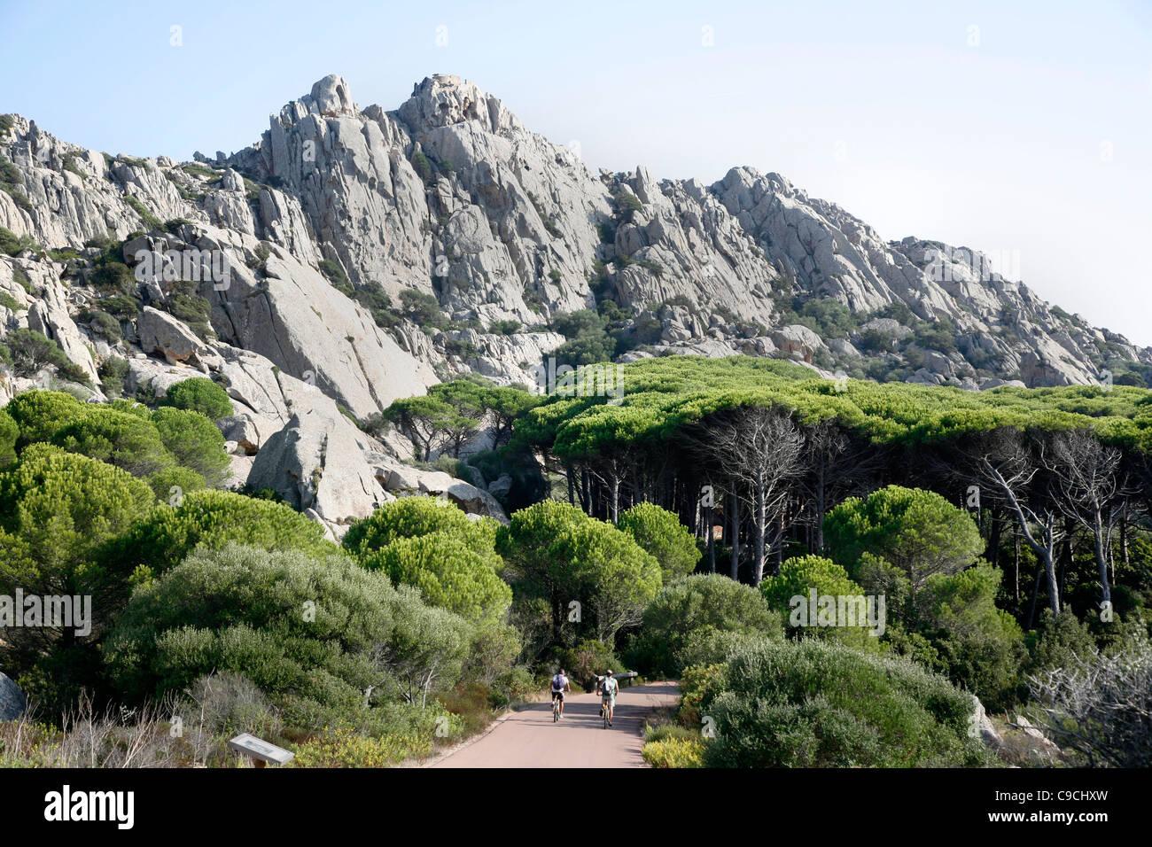 Granite rocks in La Maddalena, Sardinia, Italy. - Stock Image