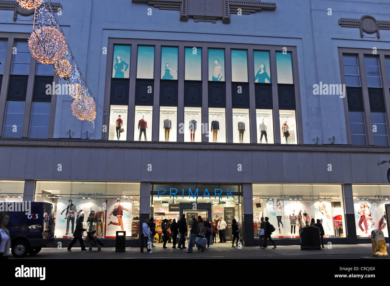 The Primark deparment store in Western Road Brighton at early evening UK Photograph taken November 2011 - Stock Image