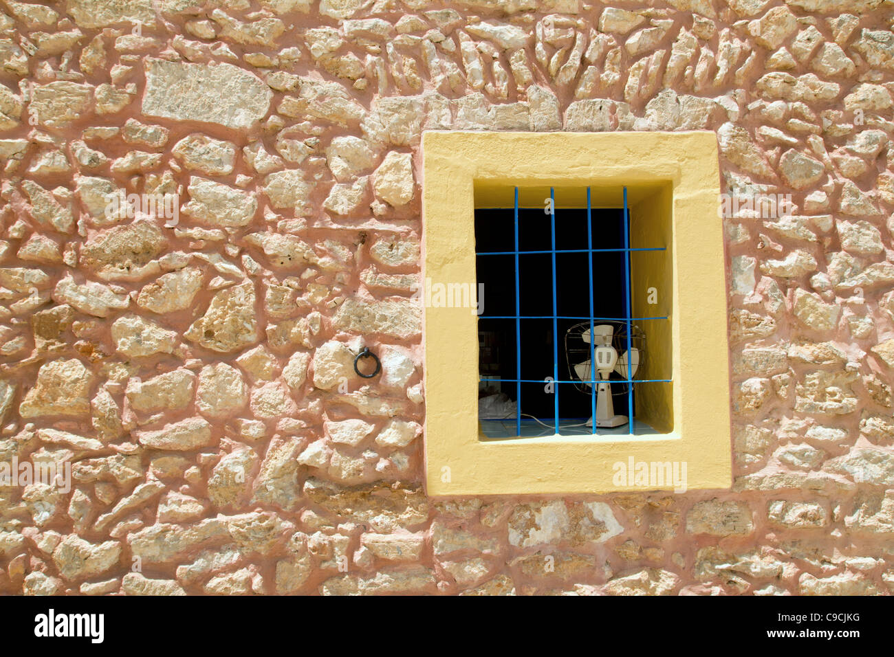 Mediterranean window in formentera San Francisco - Stock Image