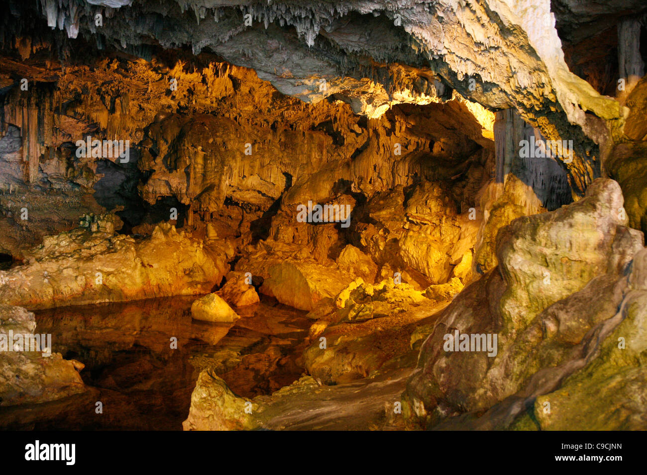 Grotta di Nettuno, Capo Caccia, Alghero, Sardinia, Italy. - Stock Image