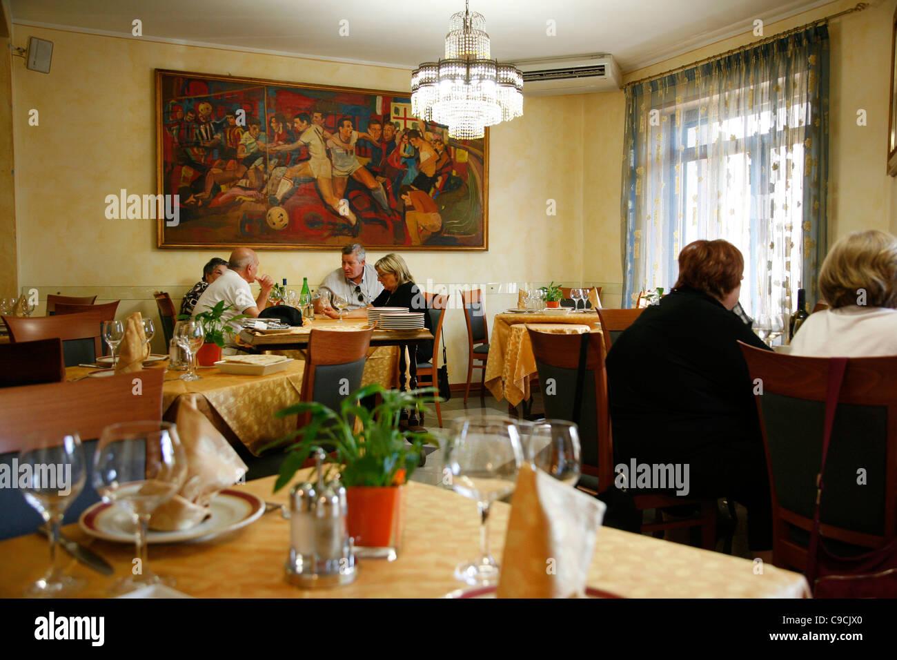 Il Caminetto restaurant, Cabras, Sardinia, Italy. - Stock Image