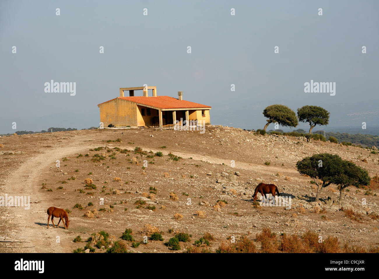 Landscape around Monti Ferru, Sardinia, Italy. - Stock Image
