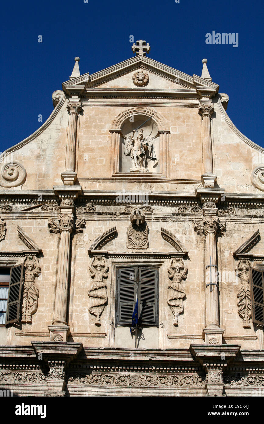 Chiesa di san Michele church, Cagliari, Sardinia, Italy. - Stock Image