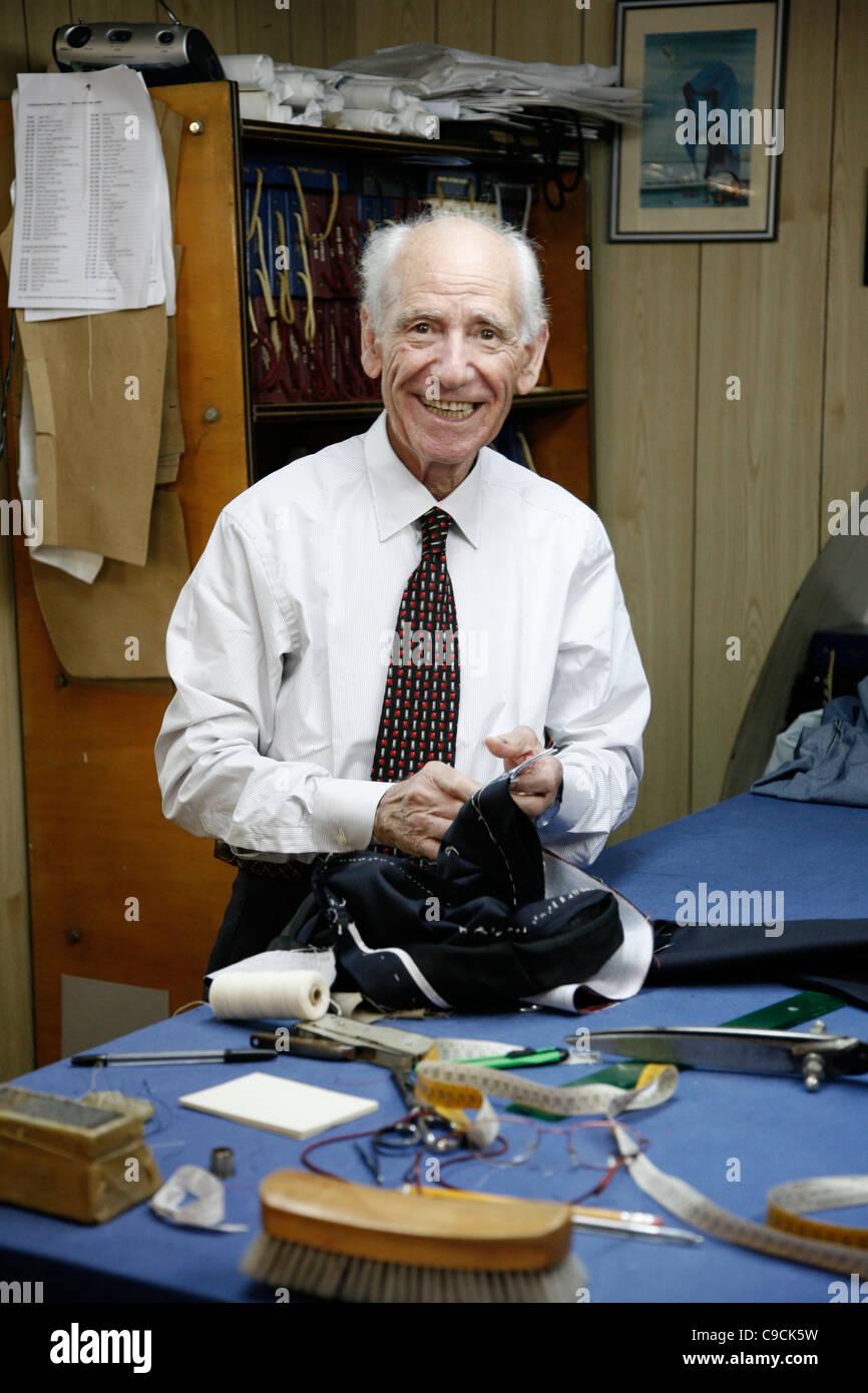 Tailor in the Castello area, Cagliari, Sardinia, Italy. - Stock Image
