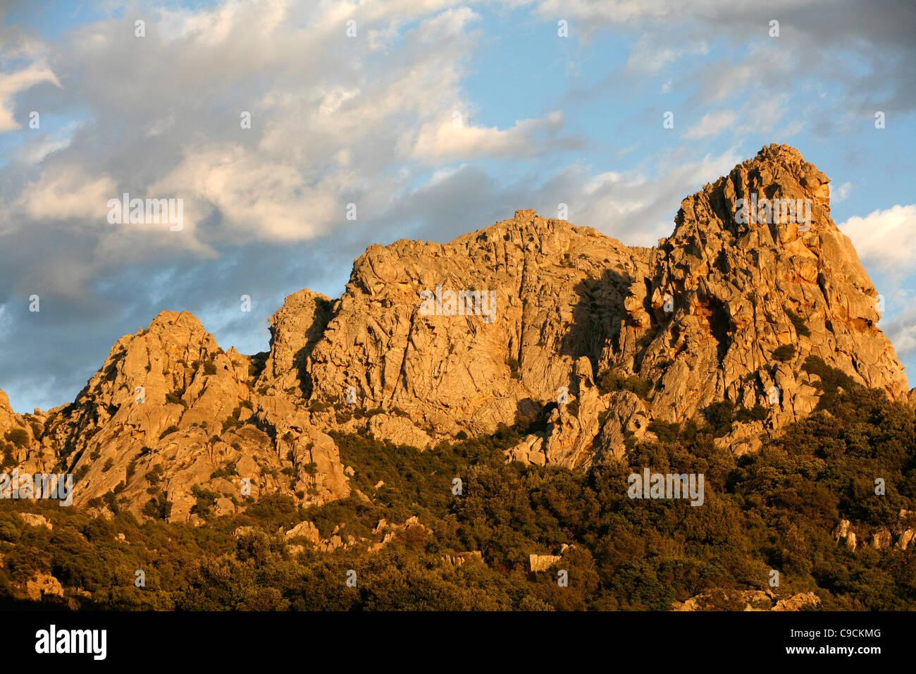 Granite rocks near San Pantaleo village, Sardinia, Italy. - Stock Image