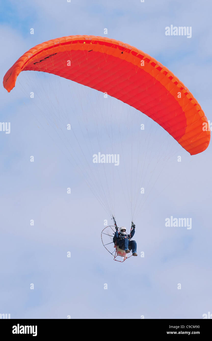 Powered Hang Glider Engine Stock Photos