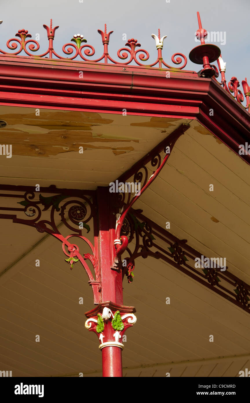 Detail from the Bandstand, Broadfield Park, Rochdale, Greater Manchester, England, UK. - Stock Image