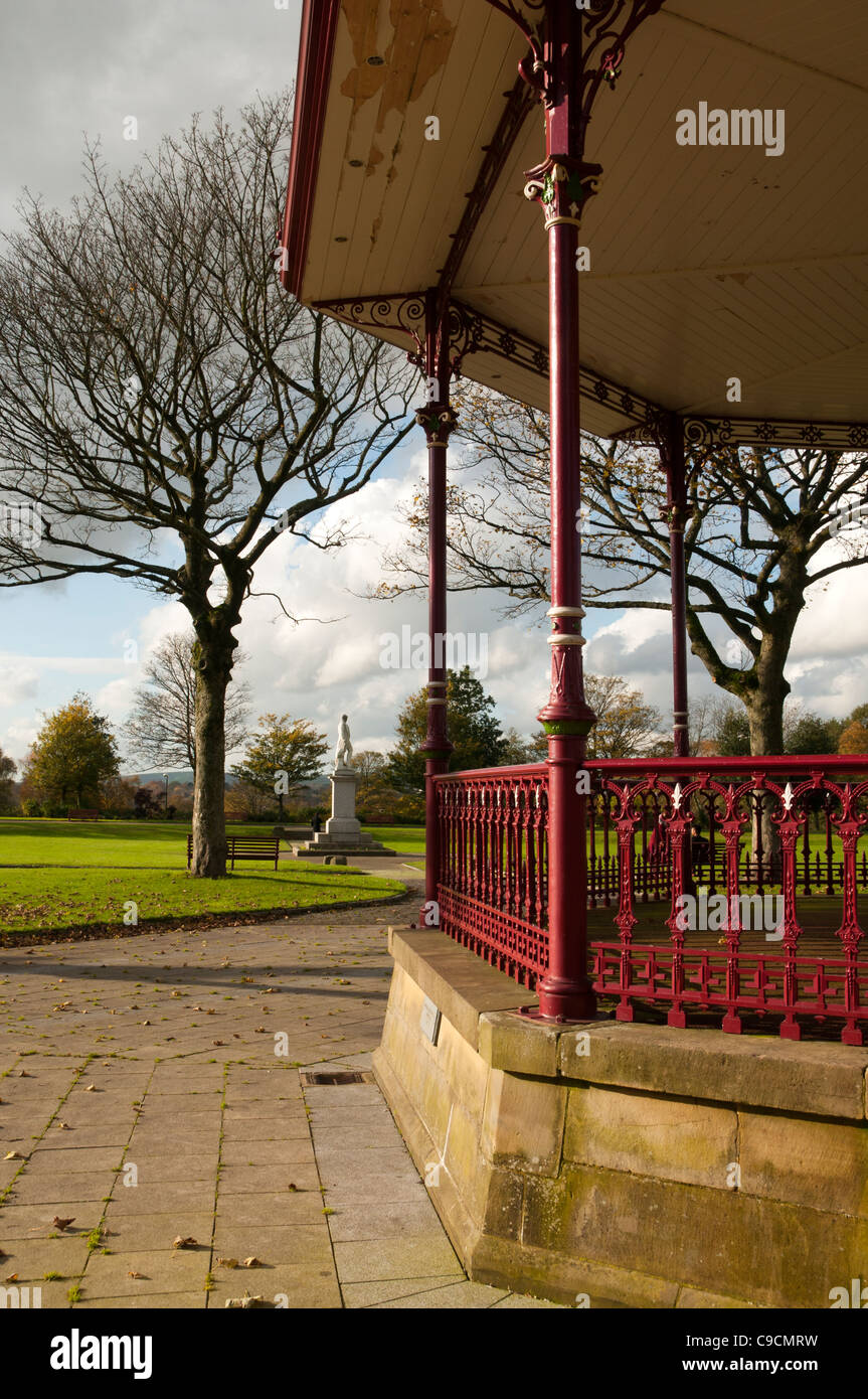 The Bandstand, Broadfield Park, Rochdale, Greater Manchester, England, UK. - Stock Image