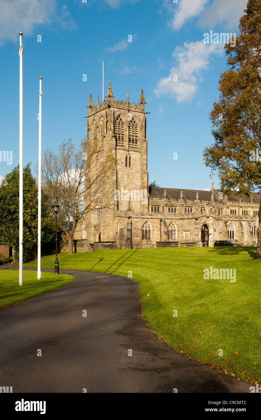 Parish Church of St. Chad, Rochdale, Greater Manchester, England, UK. Mostly 15th century with some 19th century - Stock Image
