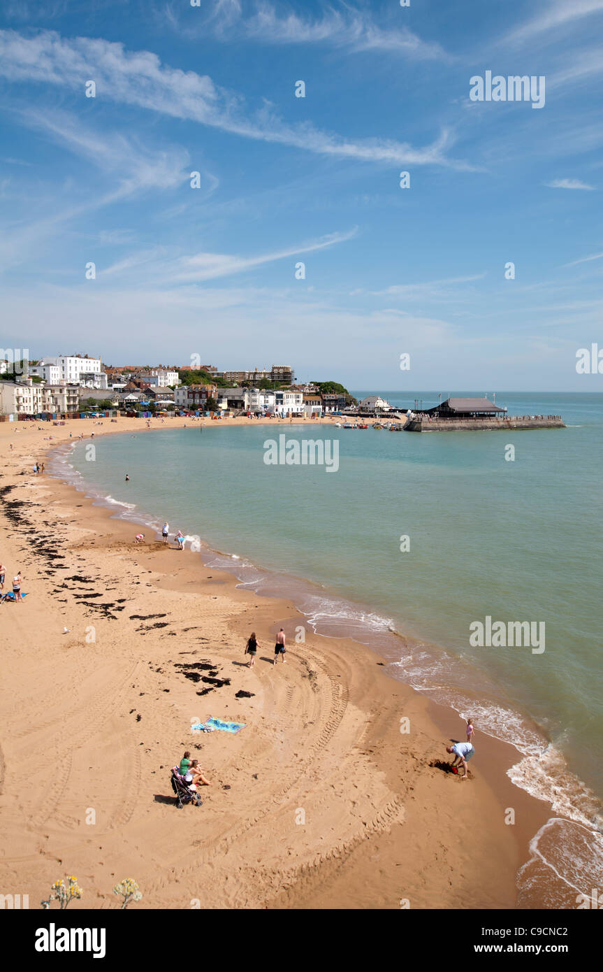 Broadstairs beach and harbour, Kent, UK - Stock Image