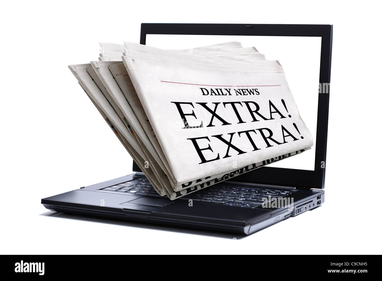Internet news - Stock Image