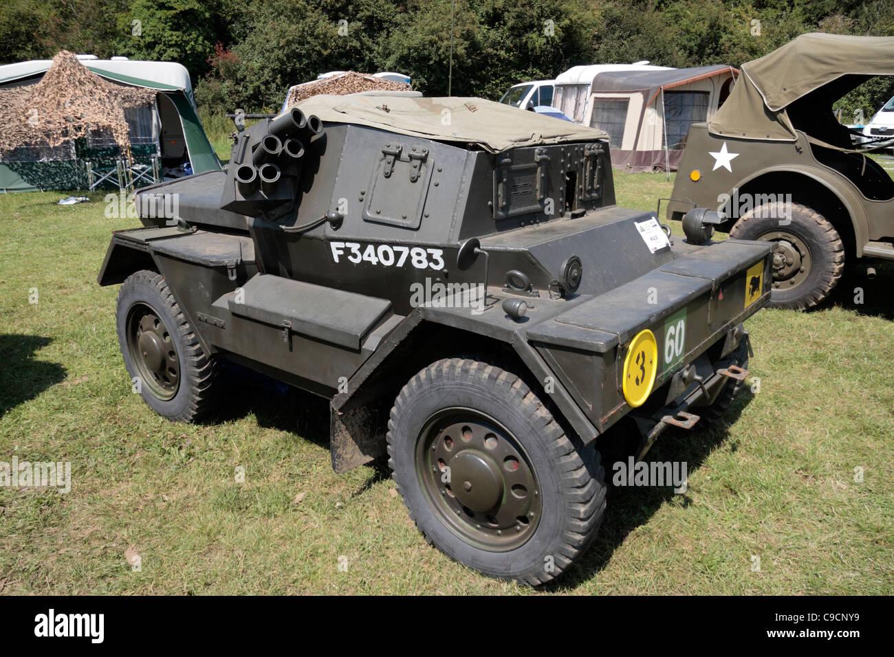 A Daimler Dingo scout car on display at the 2011 War & Peace Show at Hop Farm, Paddock Wood, Kent, UK. - Stock Image