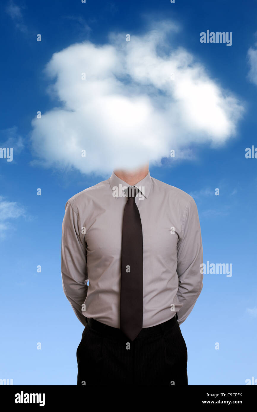 Head in the clouds - Stock Image