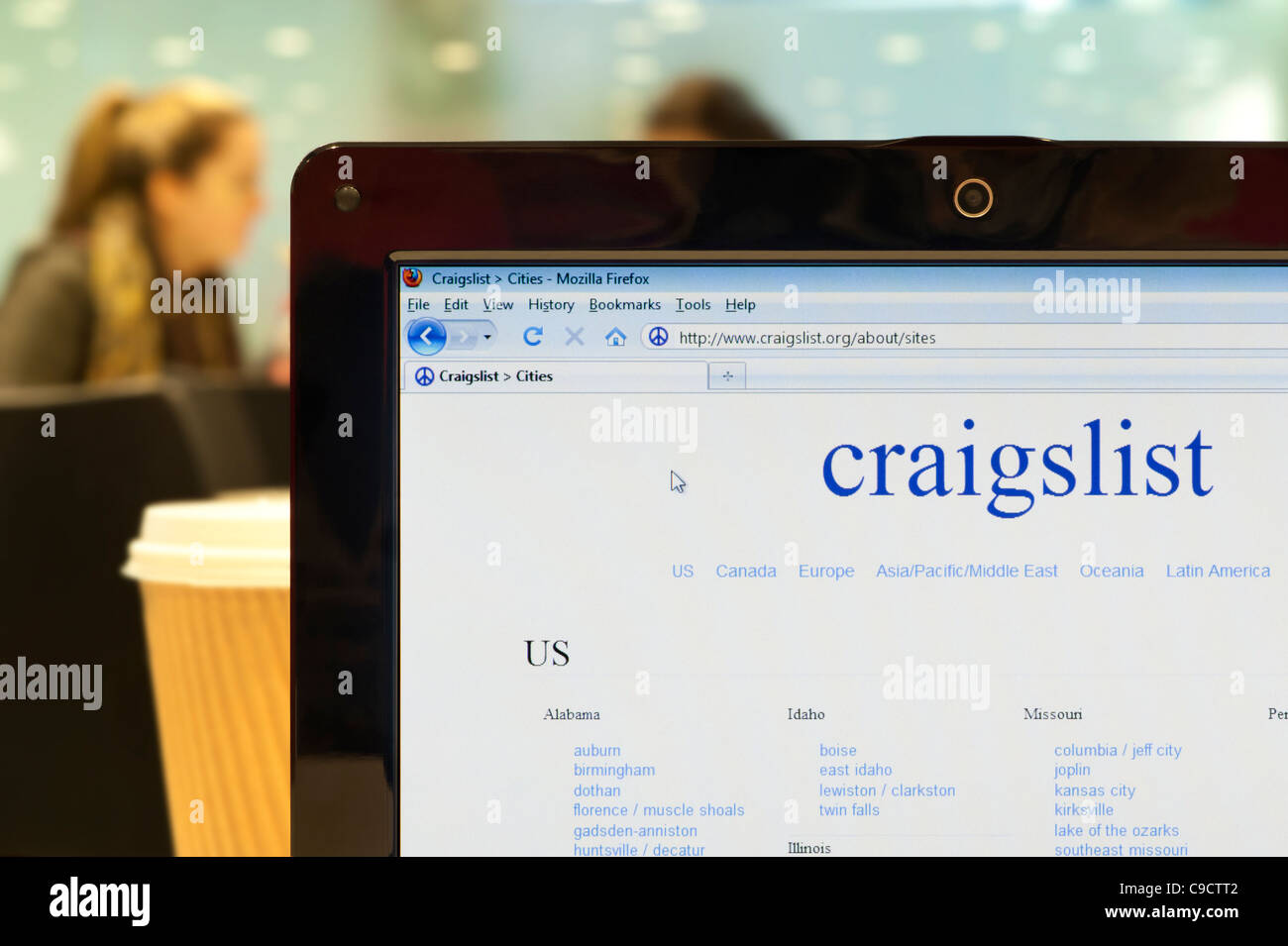Craigslist Screenshot Stock Photos & Craigslist Screenshot Stock