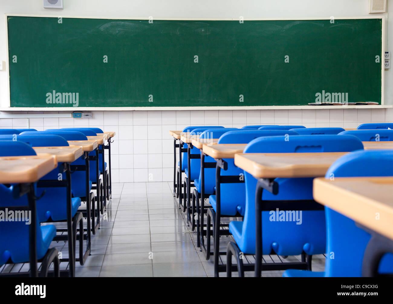 Empty classroom of school - Stock Image