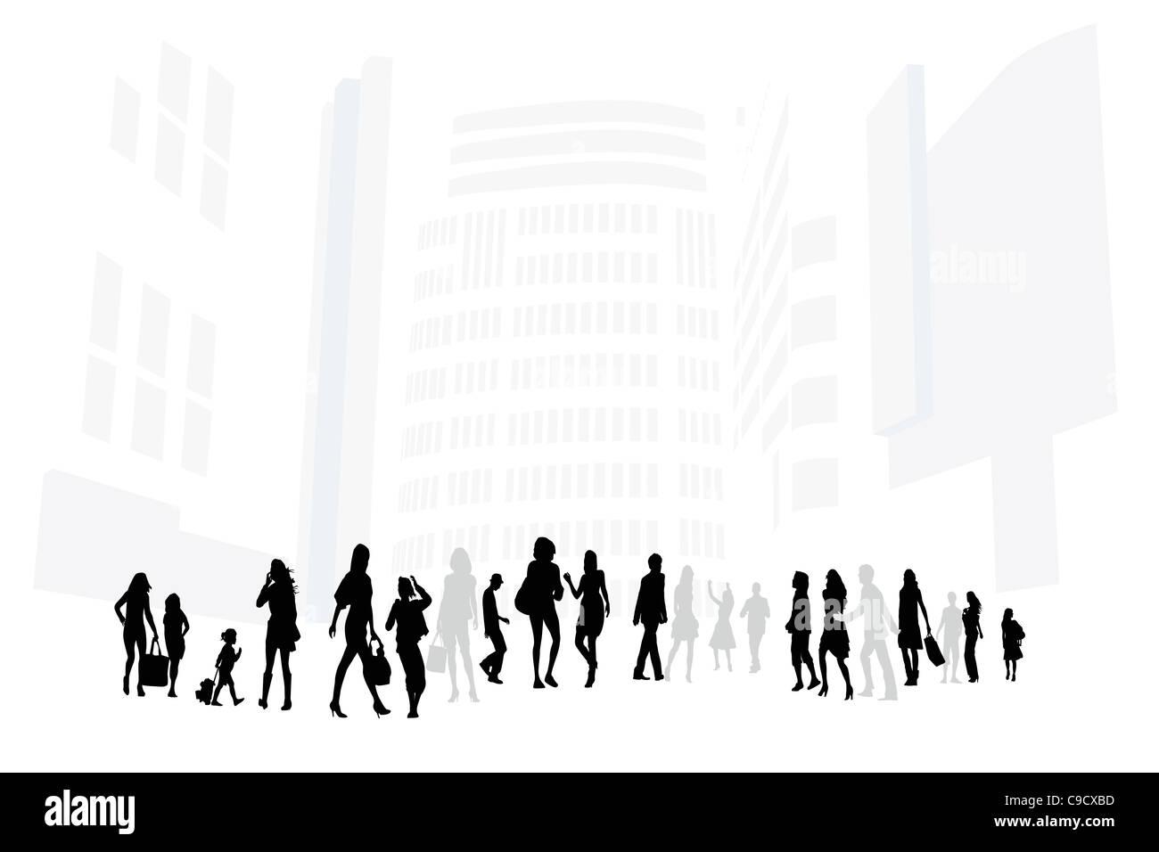 shopping street - Stock Image