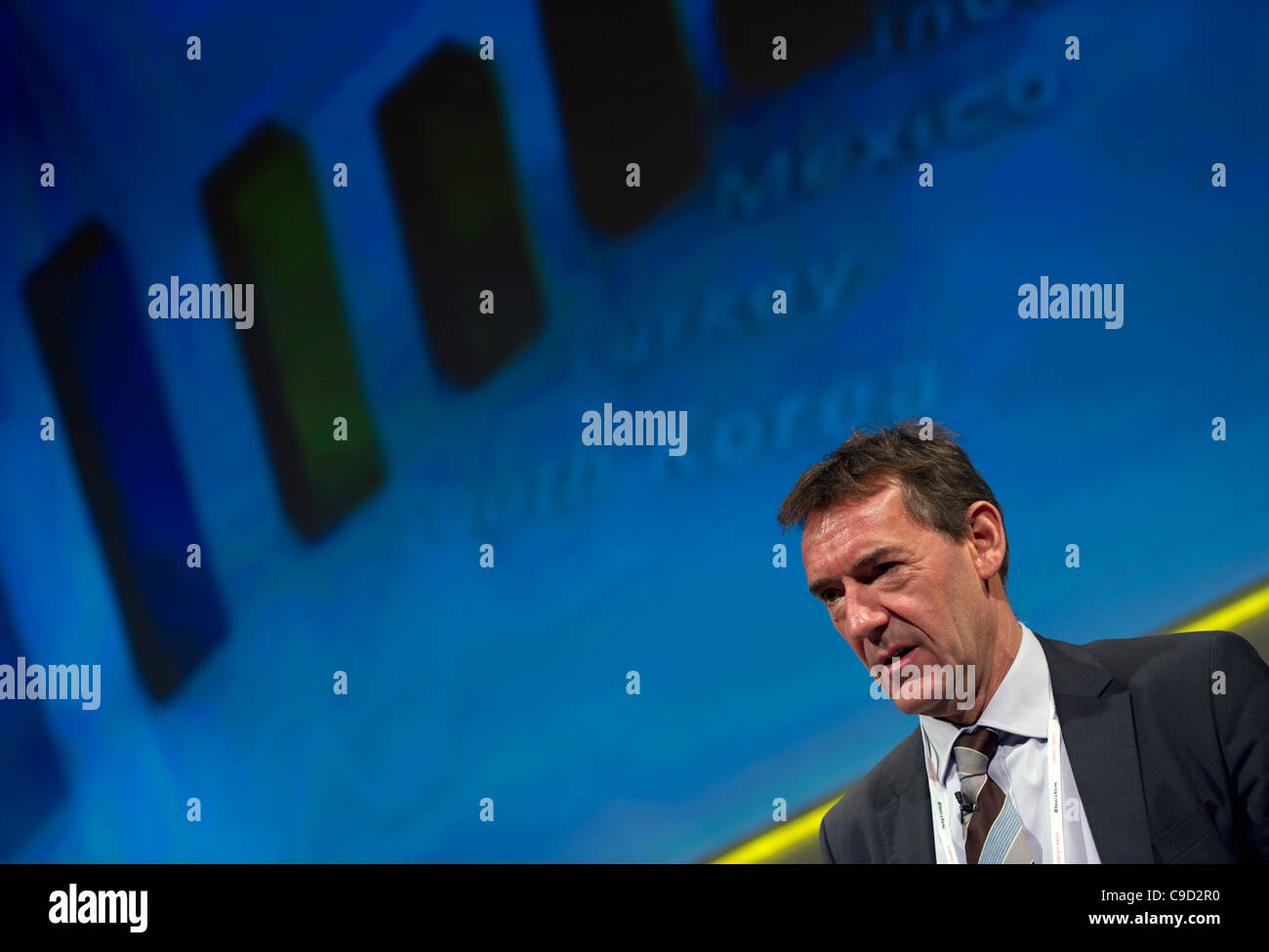 Jim O'Neill, Chairman of Goldman Sachs Asset Management speaks at a London business conference Stock Photo