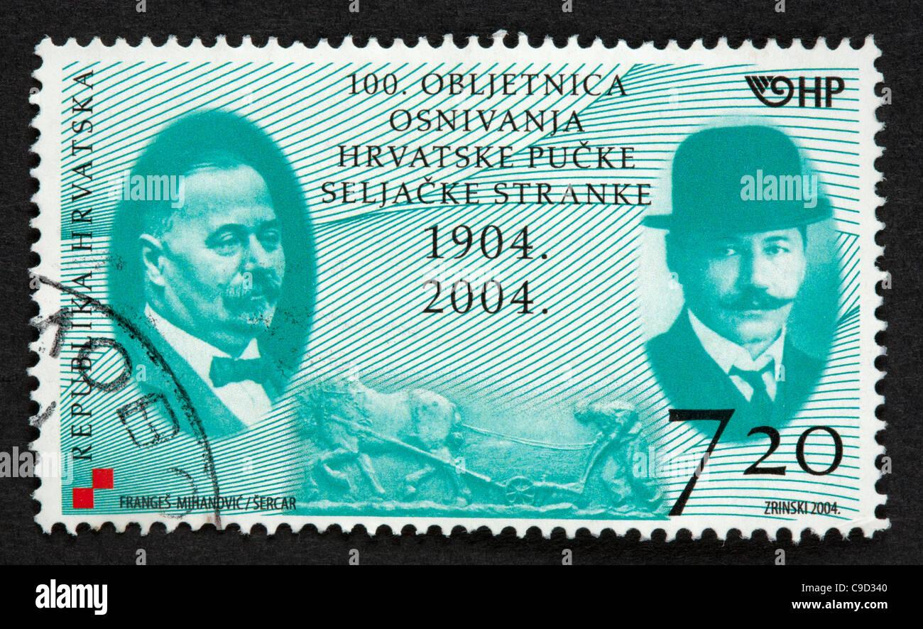 Croatian postage stamp Stock Photo