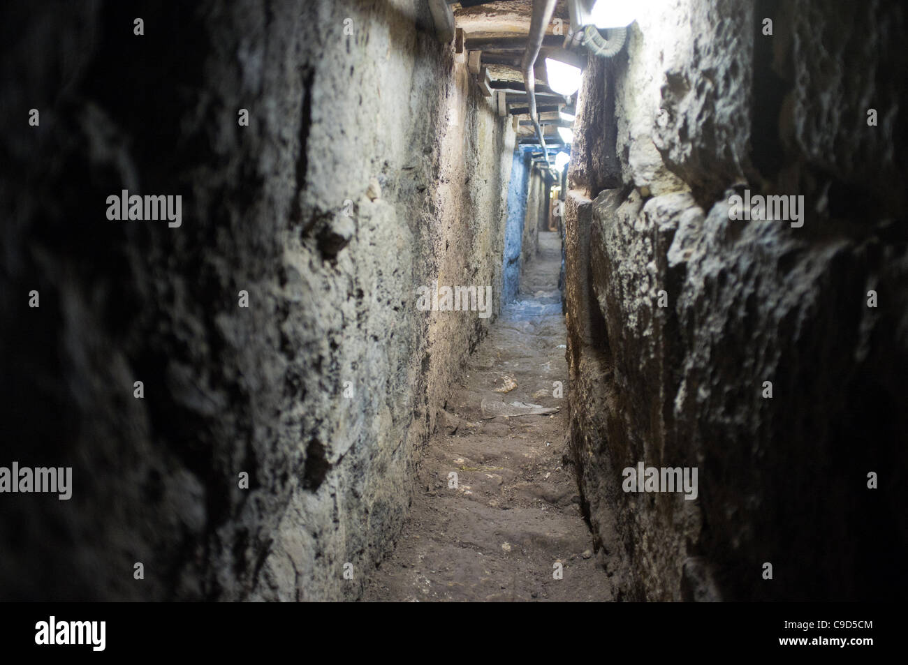 Jerusalem, Israel. 23rd November, 2011. Underground archaeological excavations continue along the 600 metre long Stock Photo