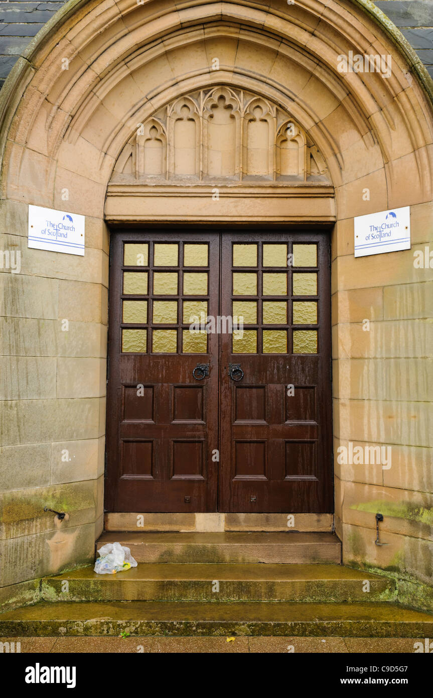 Church front door stock photos church front door stock images alamy for Exterior glass doors for churches