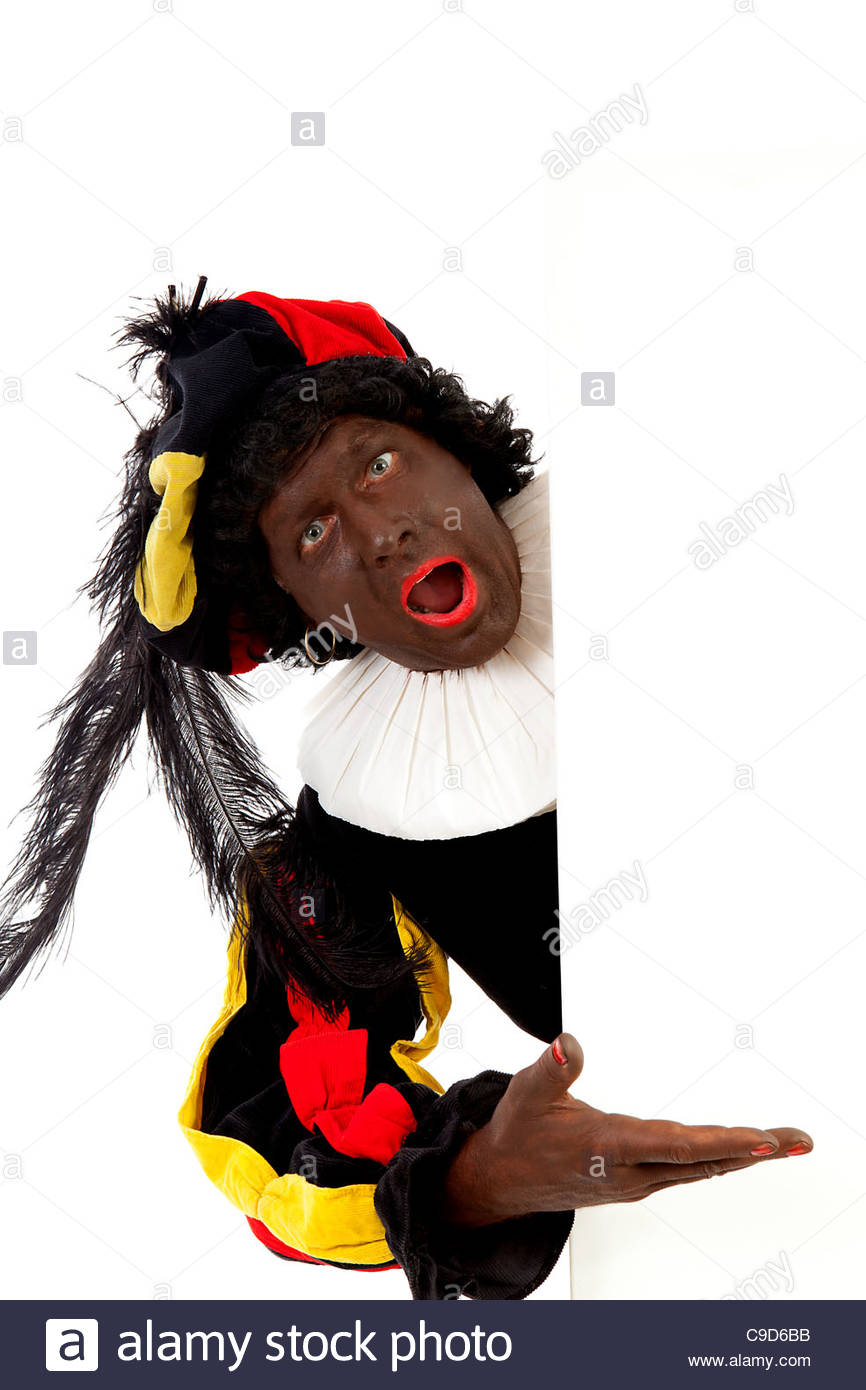 black pete, typical Dutch character - Stock Image