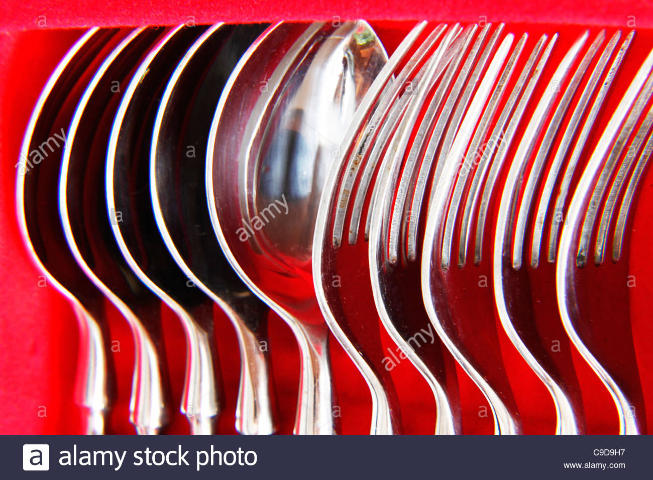 spoons and forks - Stock Image