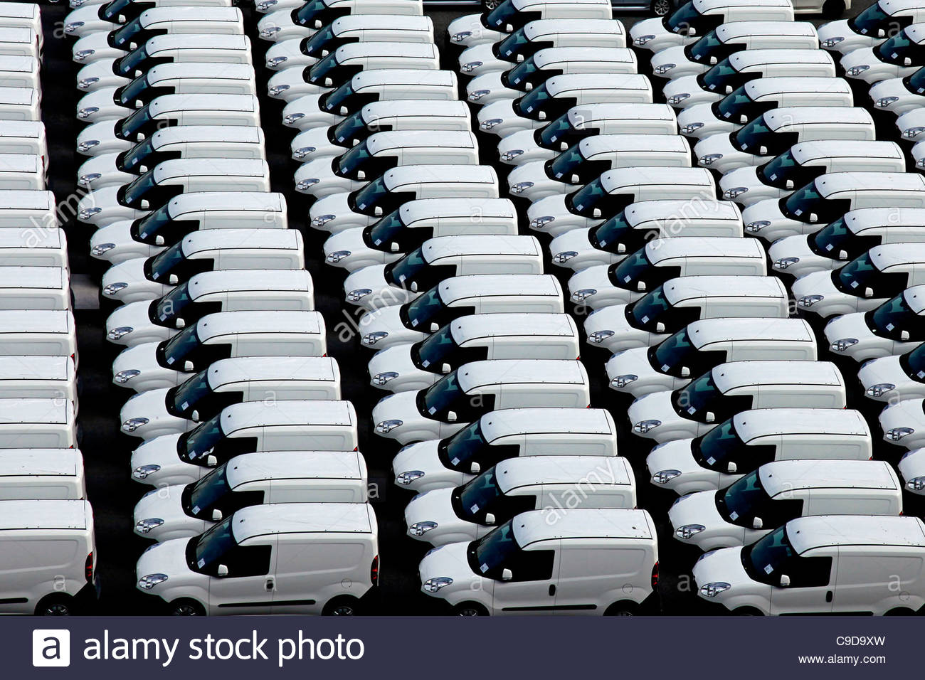 white vans - Stock Image