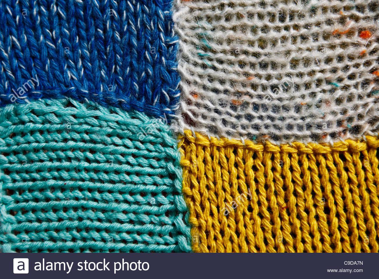 wool blanket, details - Stock Image