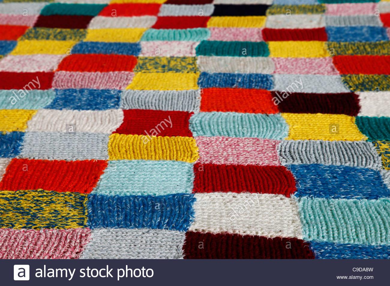 wool blanket - Stock Image