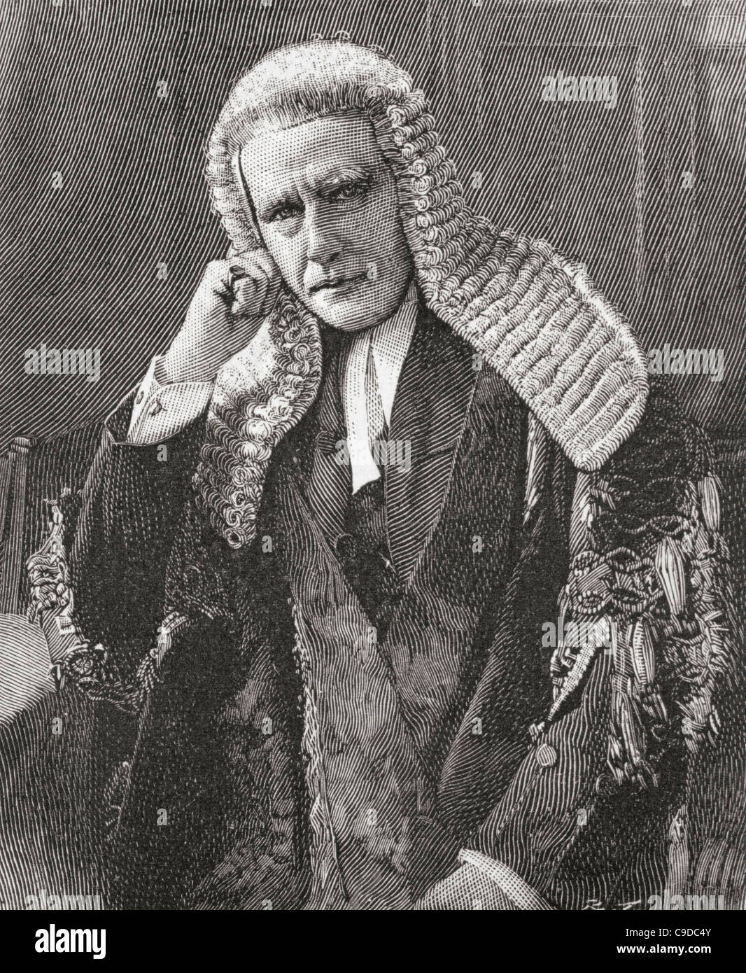 Horace Davey, Baron Davey QC, 1833 – 1907. English judge and Liberal politician. - Stock Image