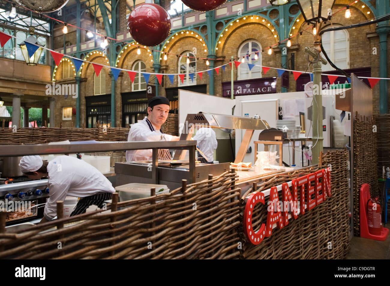 London , Covent Garden Market , cafe restaurant snack bar Canteen ...