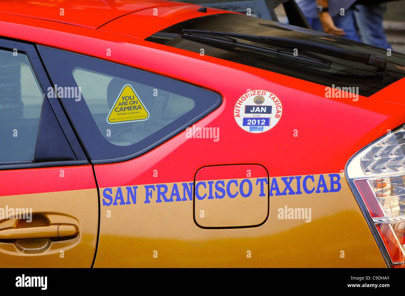 San Francisco taxicab, San Francisco, USA - Stock Image