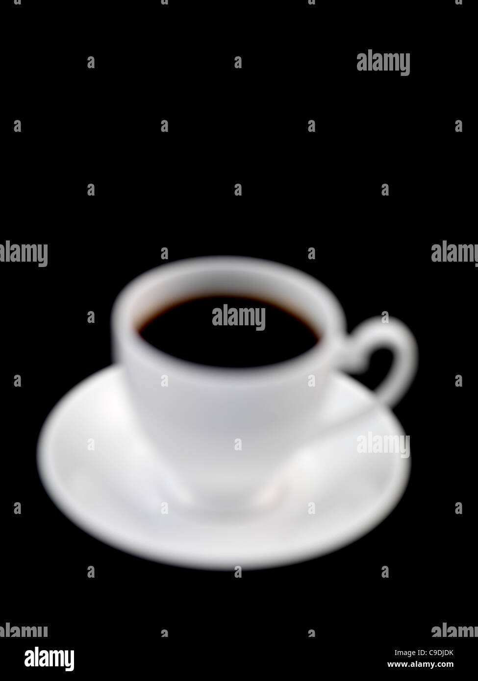 Black coffee tea soft focus - Stock Image