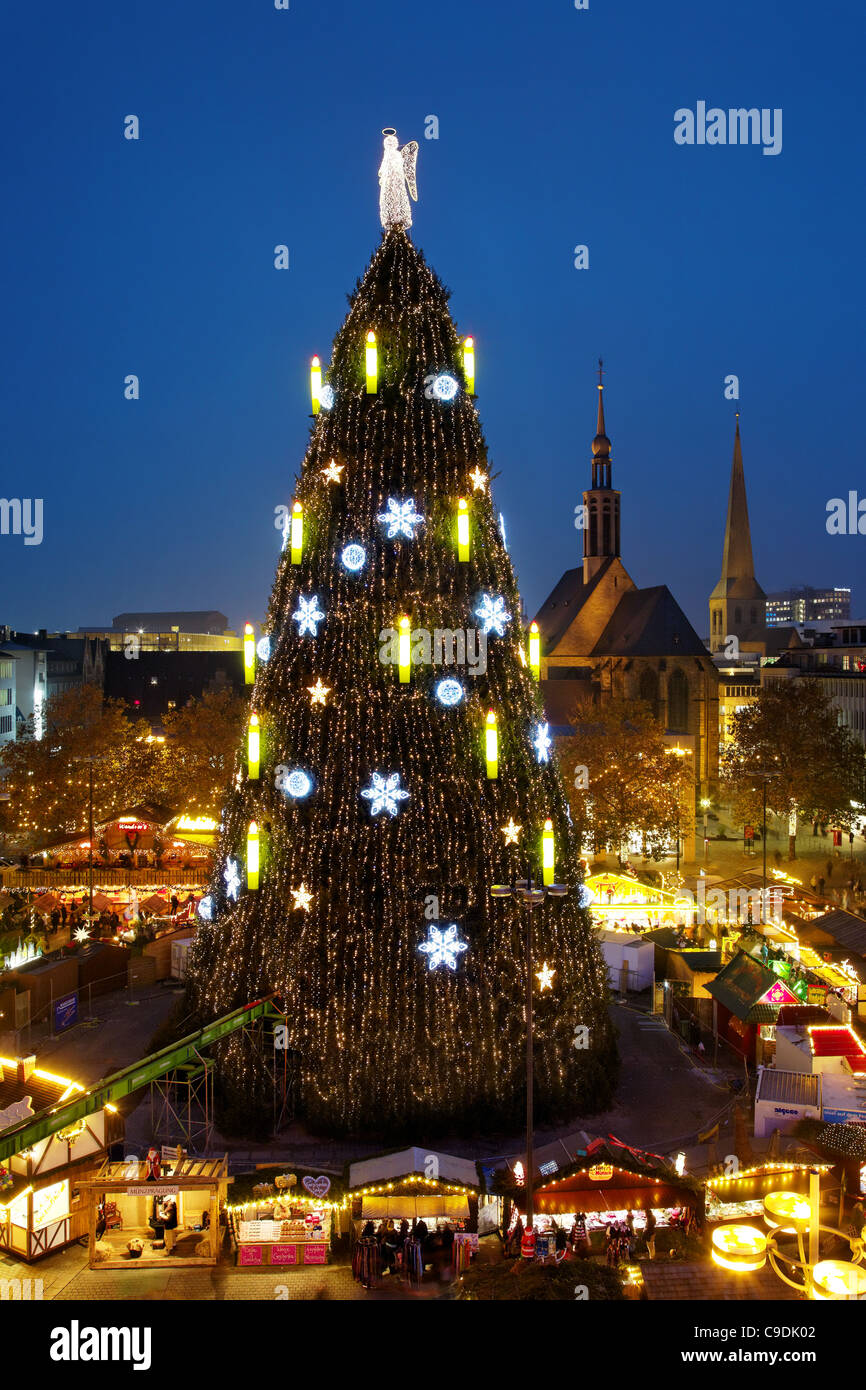 Dortmund/Germany: the world largest Christmas tree - Stock Image