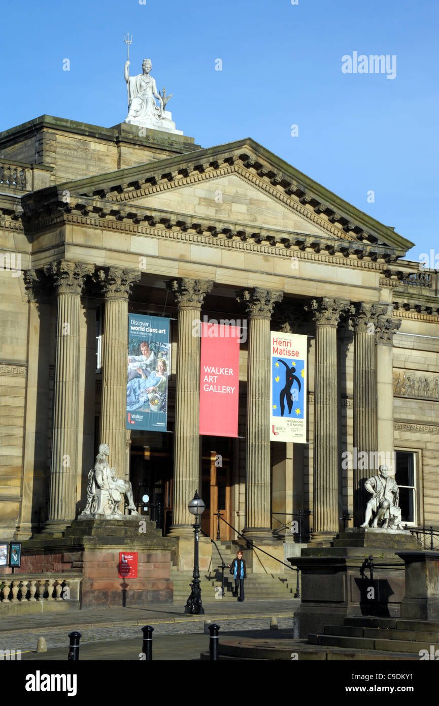 Walker Art Gallery, Liverpool, Merseyside, Britain, UK - Stock Image