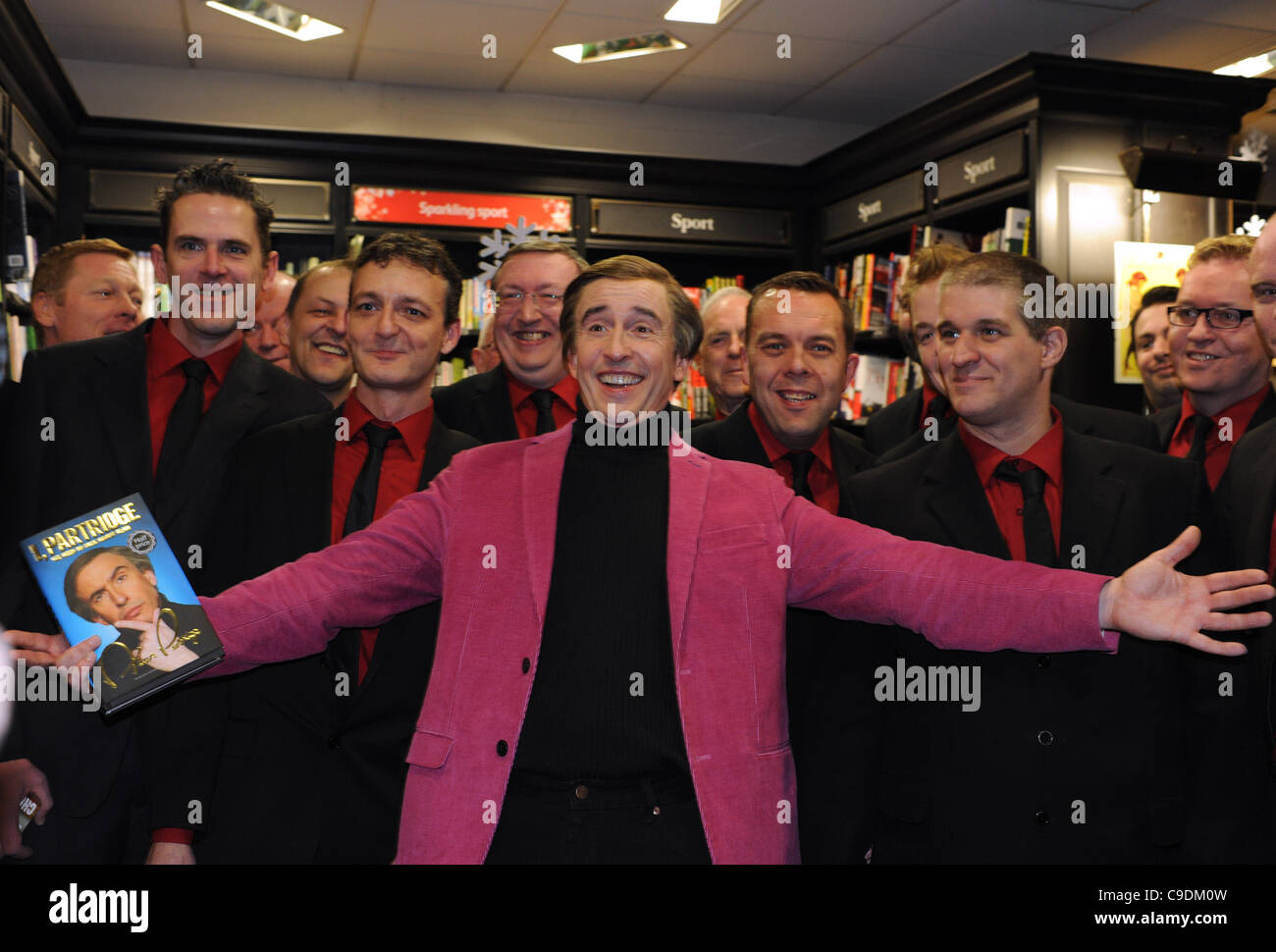 Alan Partridge famously played by actor Steve Coogan was at the Waterstone's bookshop in Brighton signing books - Stock Image