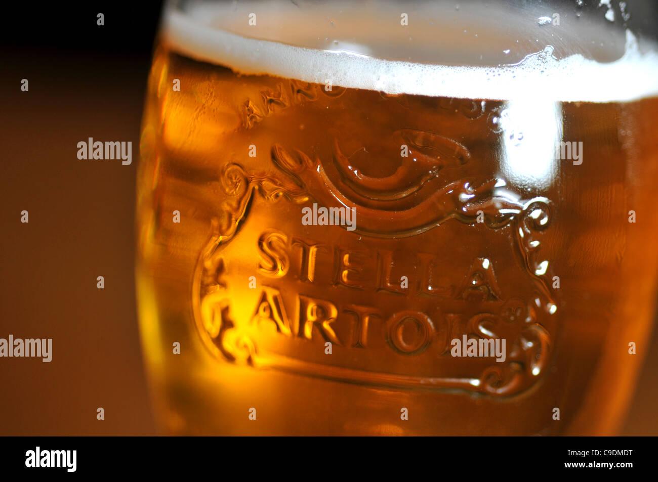 Stella Artois lager, Stella Artois Stock Photo