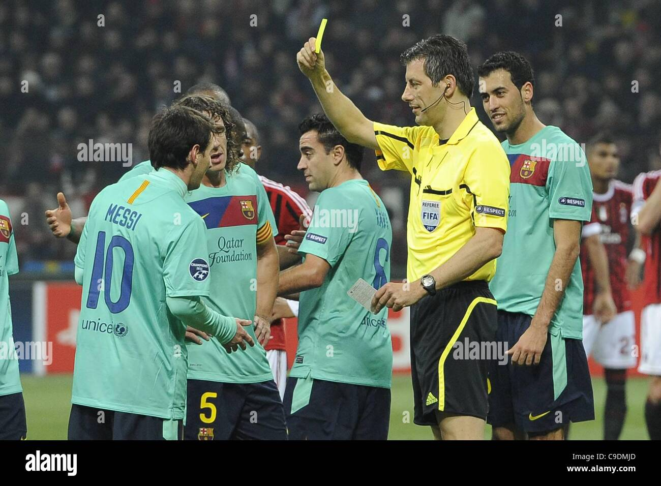 23 11 2011 Milan Italy Champions League Ac Milan Versus Barcelona Stock Photo Alamy