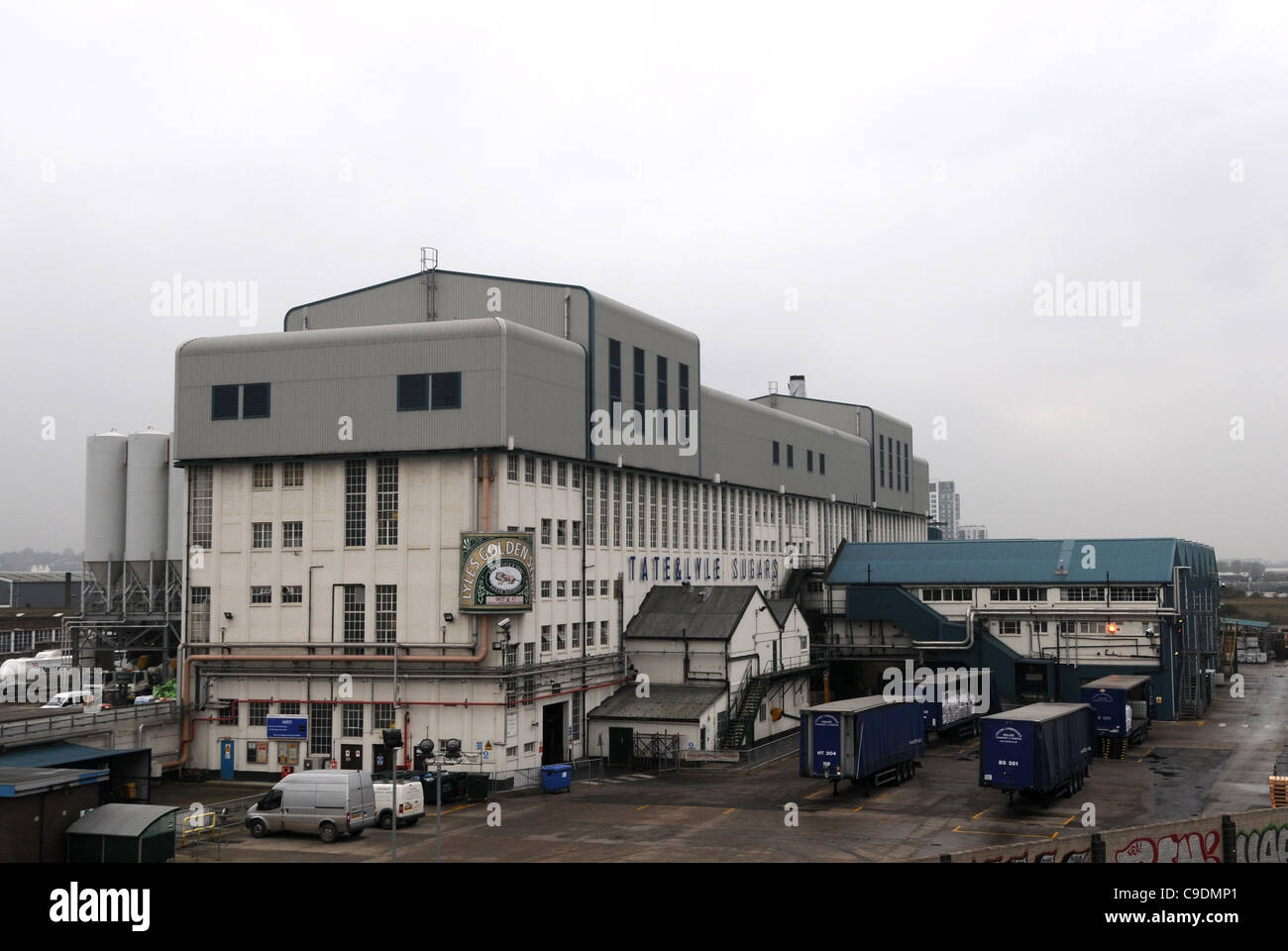 Tate and Lyle sugar factory situated at West Silvertown in east London, Britain, UK - Stock Image