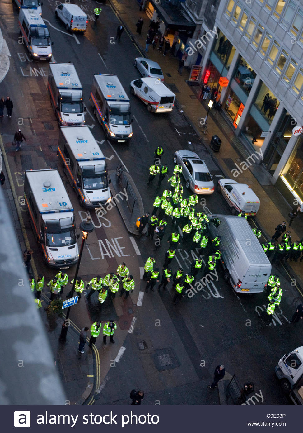'Occupy London' Panton House occupation is soon under control of the Metropolitan Police. The Haymarket - Stock Image