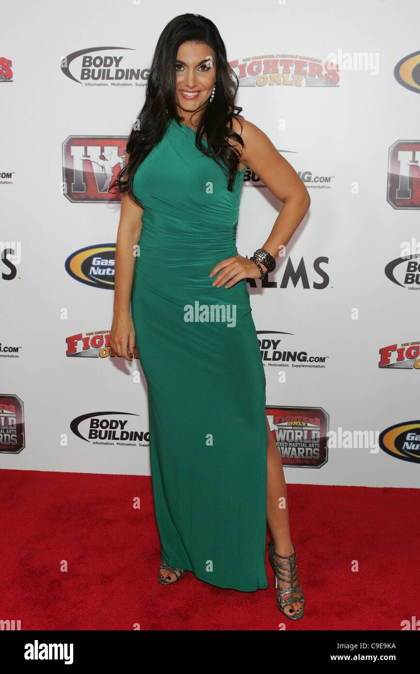 molly qerim in attendance for 4th annual fighters only world mixed