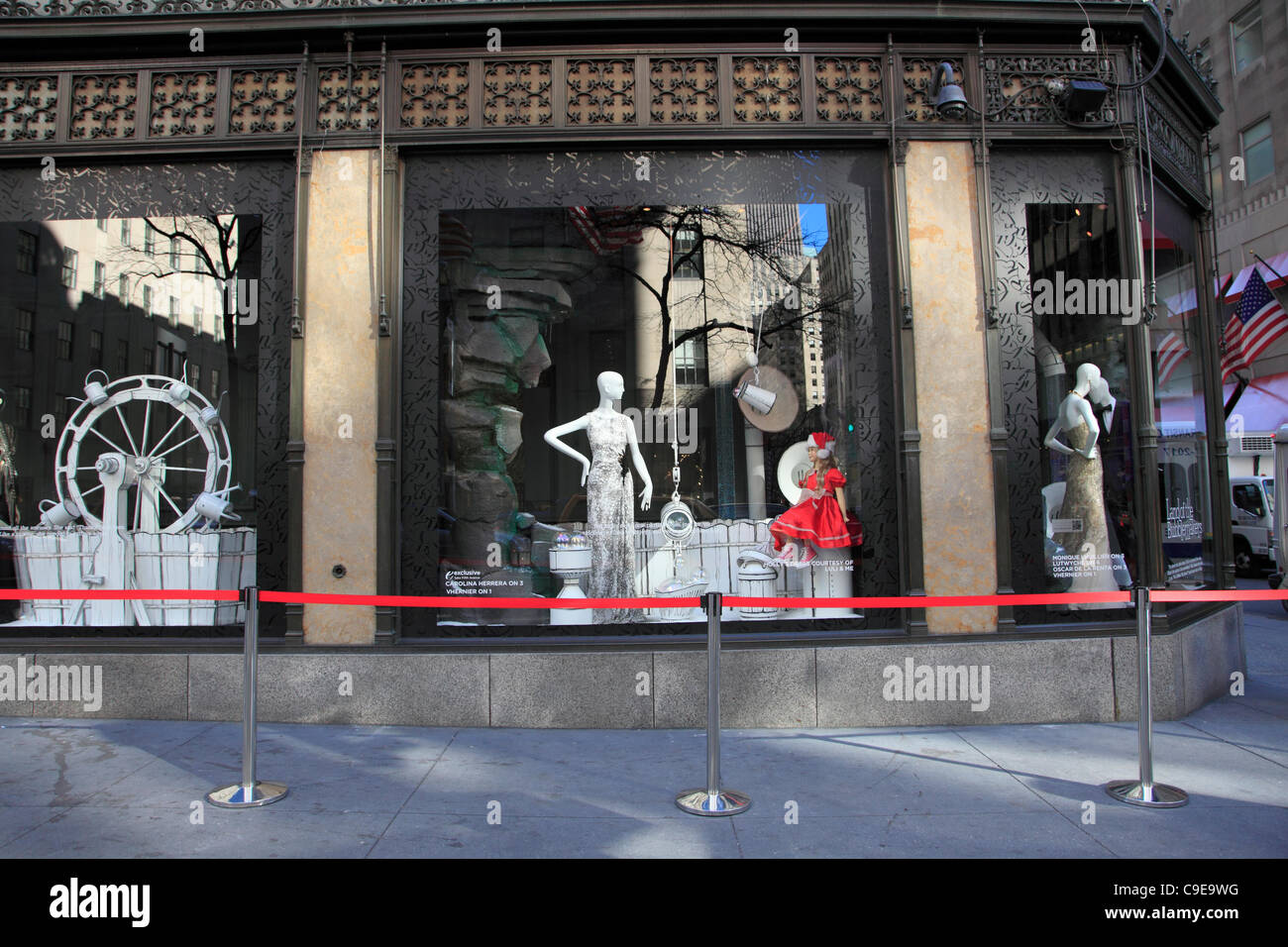 Saks Fifth Avenue Christmas 2020 Window Display Windows of Saks Fifth Avenue Department Store Decorated for