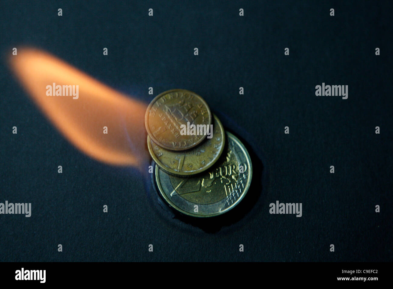 7 December 2011 Athens Greece. Euro Zone Crisis. Greece could return to its old currency, the drachma. - Stock Image