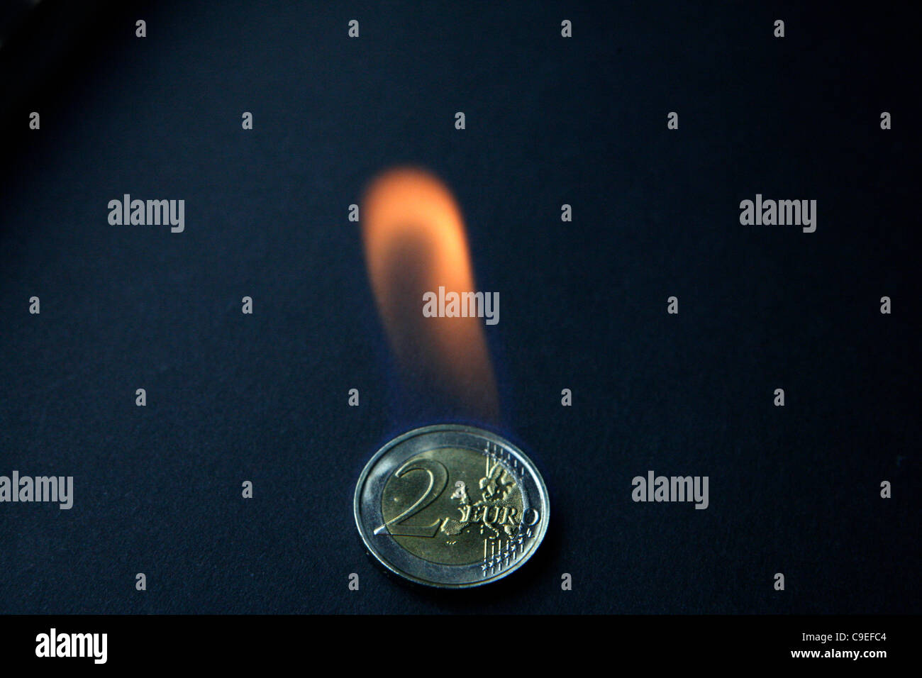7 December 2011 Athens Greece. Euro Zone Crisis - Stock Image